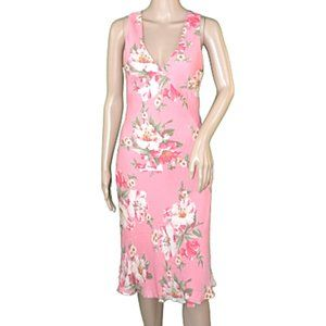 JNY Pale Shrimp Pink Soft Silk Slip Sheath Dress 4